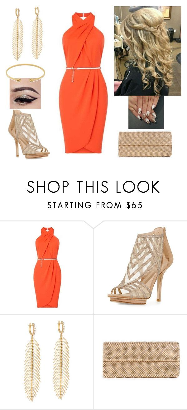 """""""Orange Beauty"""" by paoladouka on Polyvore featuring Pelle Moda, Sidney Garber, Whiting & Davis, Gucci, gold, beautiful, dress and women"""