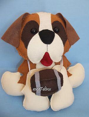 1001 Feltros: Cãezinhos: decoração e sacolinhas para lembrancinh...