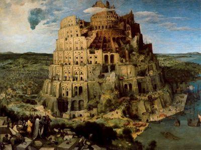 """""""La construcción de la Torre de Babel"""" Pieter Brueghel el Viejo 1563.  Óleo sobre tabla. 114 x 155 cm. Kunsthistorisches Museum. Viena. Austria."""