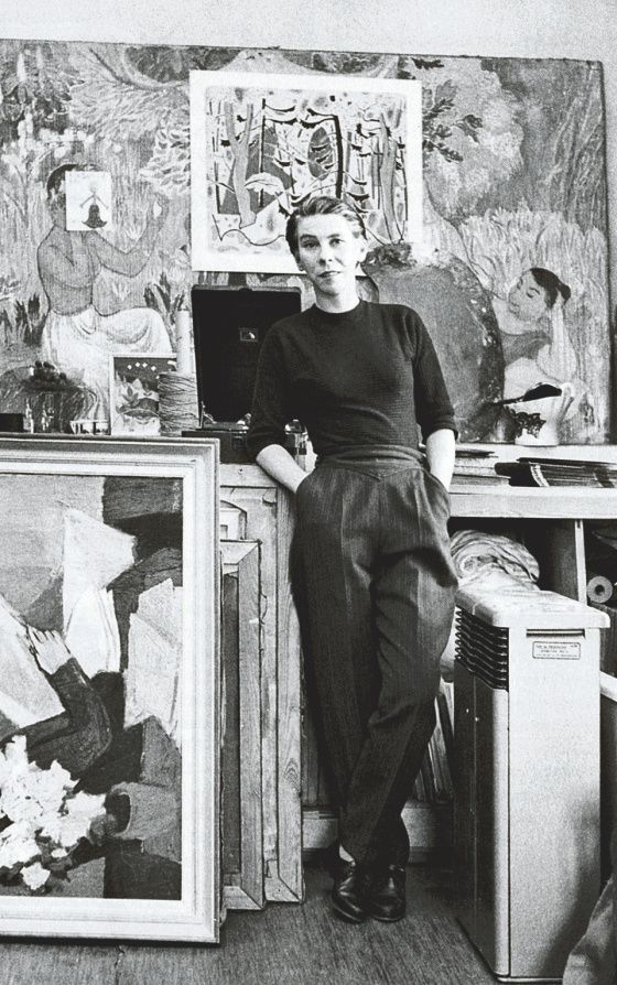 Tove Jansson -- Finnish painter / designer / illustrator - fantastic photograph of her!