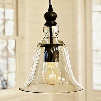 Vintage Pendant Light antique Glass Shade – USD $ 129.99