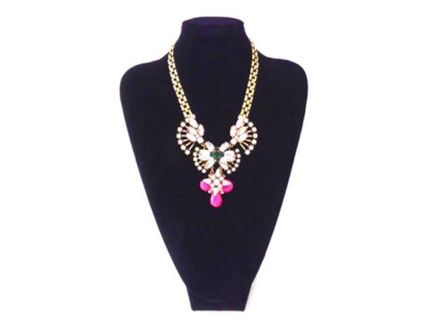 gold chain and pendant pink - catena oro pendente rosa € 21,00 www.canwink.com