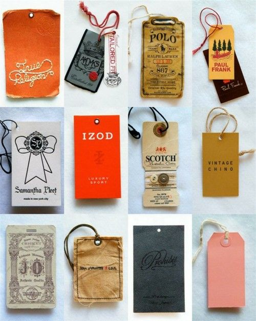 36 best Fashion Tag Design images on Pinterest