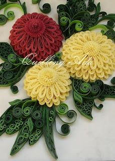 Quilling by Ada: Dalii  Seasons flowers квиллинг цветок