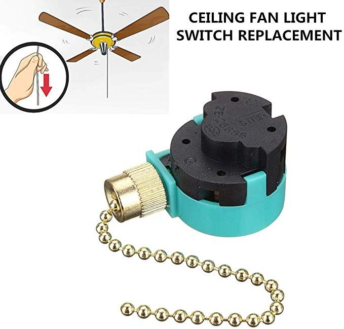 Hunter Ceiling Fans Replacement Parts Zing Ear Ze 268s6 Ceiling Fan Switch 3 Speed 4 Wire Pull Chai Fan Light Switch Hunter Ceiling Fans Ceiling Fan With Light