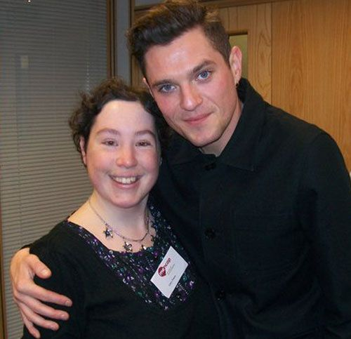 Ciara Evans with Gavin and Stacey's Mathew Horne