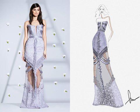 CRISTALLINI #EveningDress #LavenderDress #SilkTulle #Prom #RedCarpet