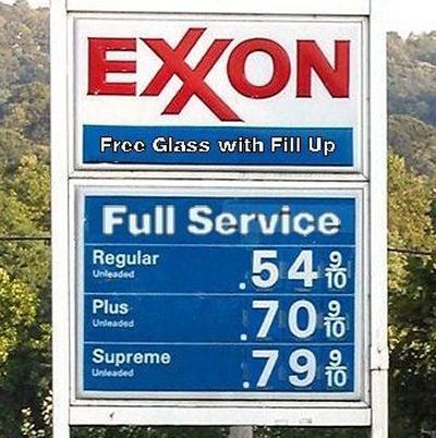 Gas Prices 1970s. 'Full Service' meant a gas attendant pumped your gas, washed your windshield, checked your oil & took your money.