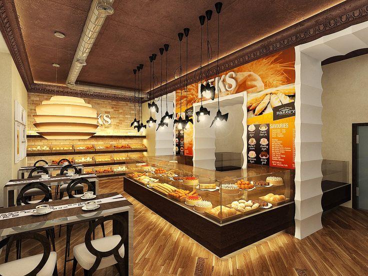 Amazing modern bakery design ideas designs pinterest for Bakery interior design