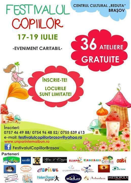 Un eveniment caritabil care nu trebuie ratat: Festivalul Copiilor de la Brasov!