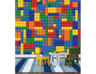 """Toy Building Blocks"". A wall mural from Muralunique.com. https://www.muralunique.com/toy-building-blocks-9-x-9-2-75m-x-2-75m.html"