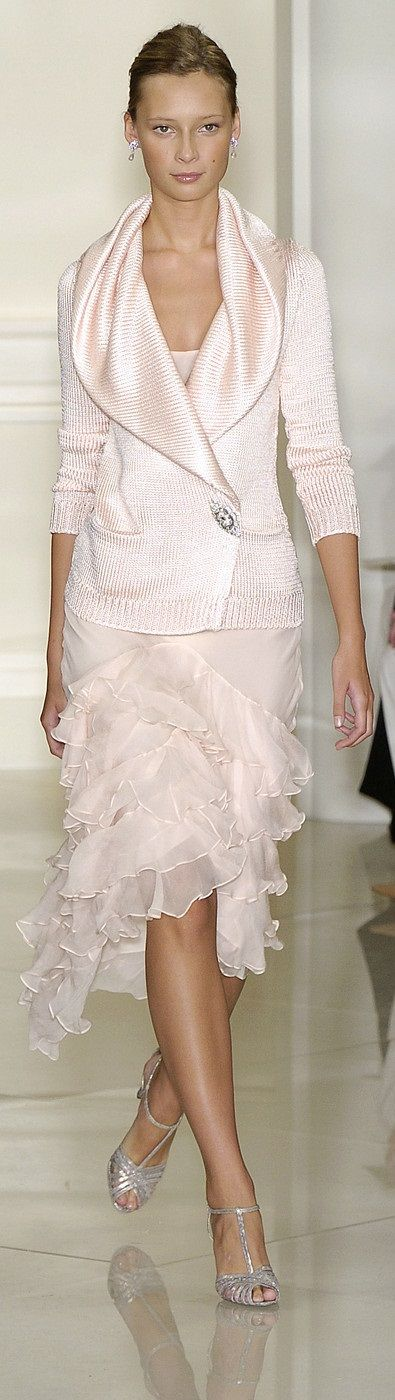 Ralph Lauren spring 2005 and this look is still relevant in 2015. Ralph Lauren design is brilliant like that.