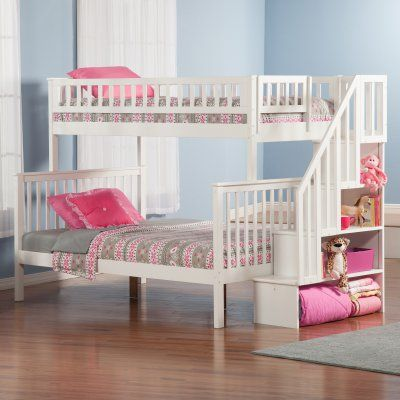 Woodland Twin over Full Staircase Bunk Bed - AB56702