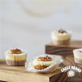 Salty Caramel #Cheesecake Bites from Eagle Brand®