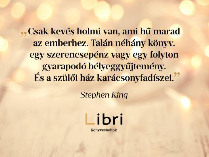 Stephen King idézet a karácsonyfadíszekről. A kép forrása: Libri Könyvesboltok