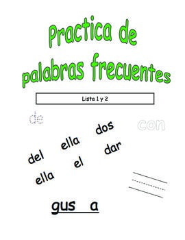 Spanish Sight Word Practice BUNDLE (Palabras frecuentes) Bundle up and SAVE! Wow! 142 Spanish Sight Word Practice Pages!! GREAT FOR WORD WORK!