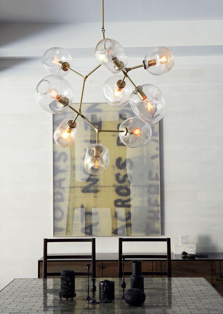 Globe chandelier lindsey adelman lighting lighting for Dining room globe lighting