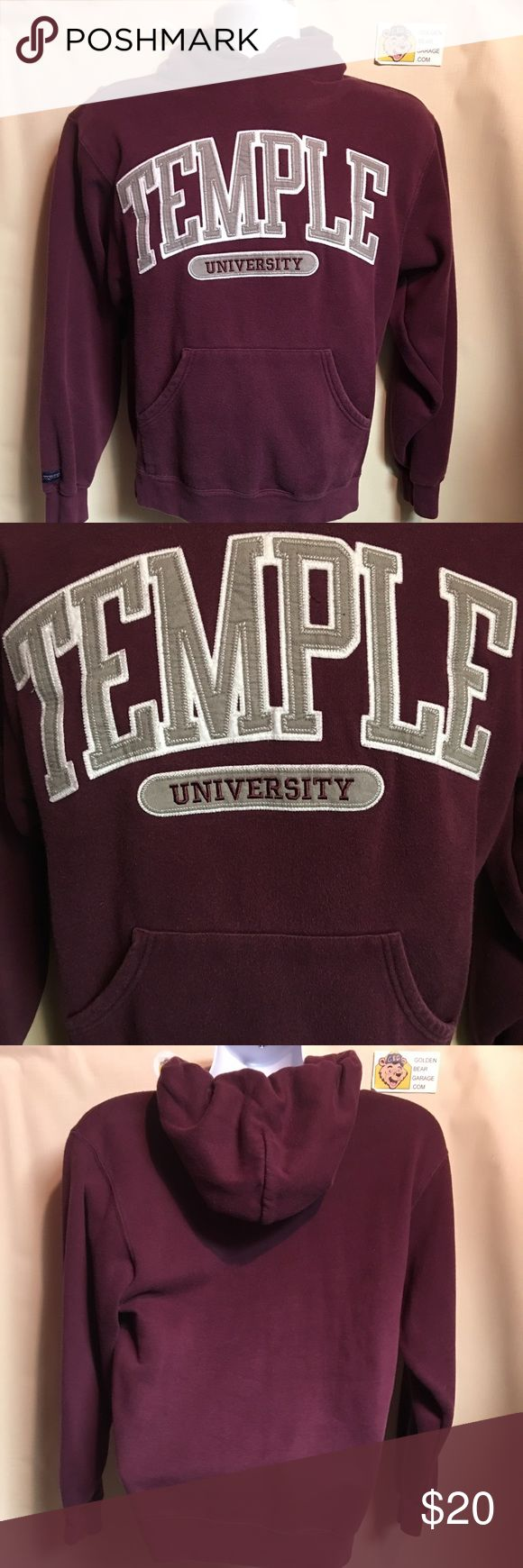 Temple University Hoodie Gently Worn Temple University Hoodie. In excellent condition with no major flaws. Champion Shirts Sweatshirts & Hoodies