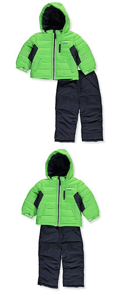 4ed52e3ecc05 London Fog Baby Boys 2-Piece Snow Pant and Jacket Snowsuit