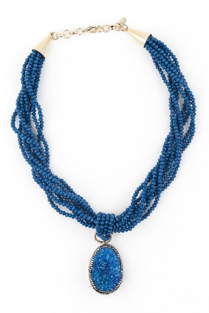 MANHATTAN Blue Crystal Necklace