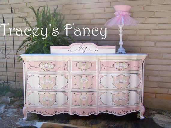 furniture dresser painted changing table french provincial buffet fancy