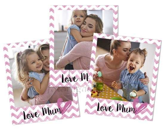 Polaroid Magnetiche Love mum rosa