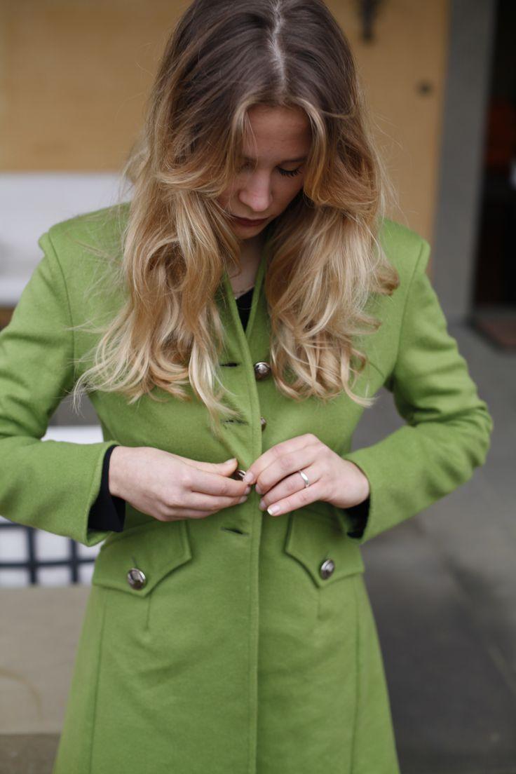 #cappotto #verde #bottoni www.cinziarei.com