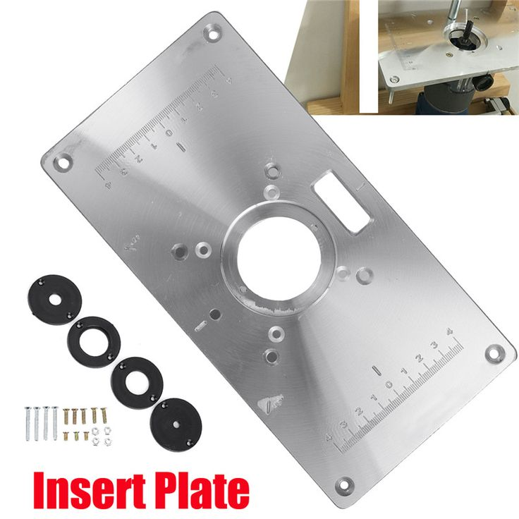 The 25 best router table insert ideas on pinterest diy router 1set 300235mm aluminum router table insert plate diy woodworking benches for popular router trimmers keyboard keysfo Images