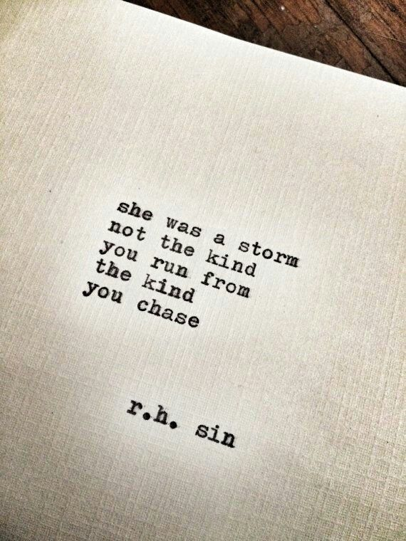 She was a storm