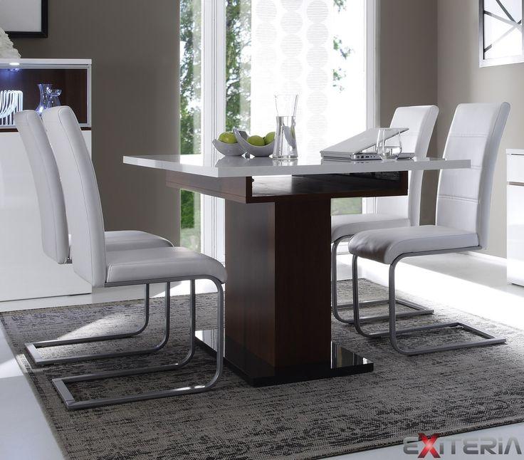 Veľký moderný rozkladací stôl Cordelia z lamina Cordelia furniture - dining table