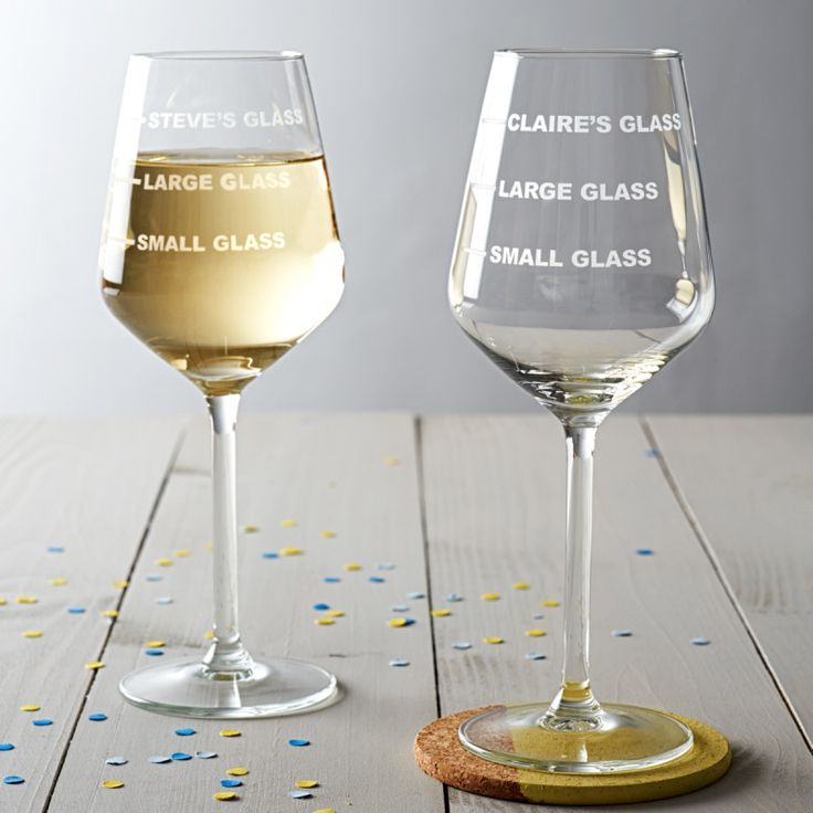 Personalised Drinks Measure Wine Glass | hardtofind.