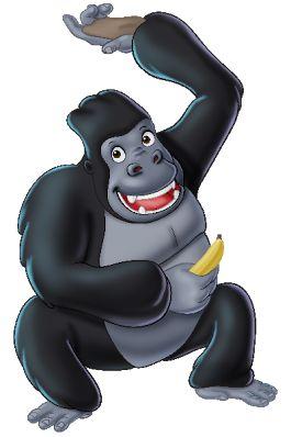 Funny Gorilla Images Monkeys Cartoon Clip Art Affen Lustige