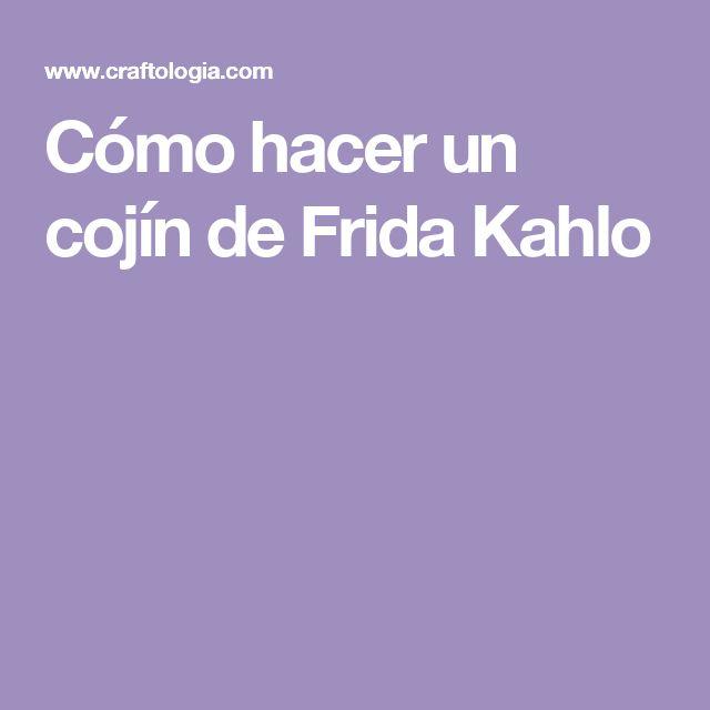 Cómo hacer un cojín de Frida Kahlo