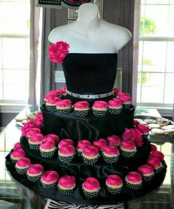 Snazzy Black & Hot Pink Dress Cake