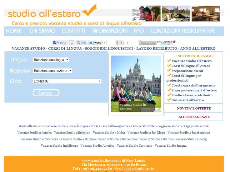 Studioall\'estero di New Lands, partner english uk ente del britsh ...