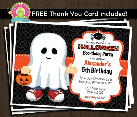 halloween birthday invitation printable by foreveryourprints - Halloween Birthday Invitations Printable