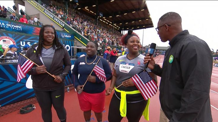 """Michelle Carter wins women's shot put at Olympic Trials 5'9"""" 209 lbs. Plus sized powerhouse!!!"""