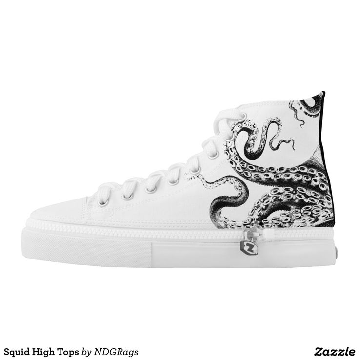 Squid High Tops Printed Shoes by NDGRags