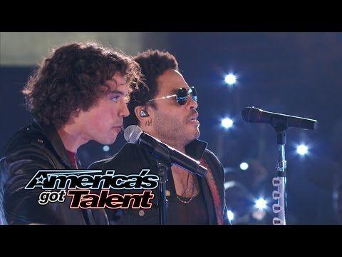Miguel Dakota: Lenny Kravitz Joins Rocker Onstage - America's Got Talent 2014 Finale - YouTube