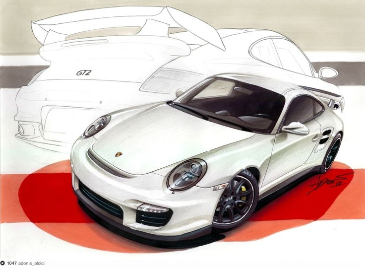 Traditional drawing of a Porsche GT2 made with markers in A3 paper. 12h of work.  Video here -> http://www.youtube.com/watch?v=VwBkNCJa9nw=UUvE7t_eByrVtsvb23-dwLAQ=2=plcp