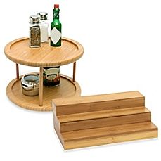 image of Lipper Bamboo Cabinet Organizers