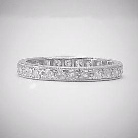 Platinum Full Set Diamond Eternity Ring Circa 1940