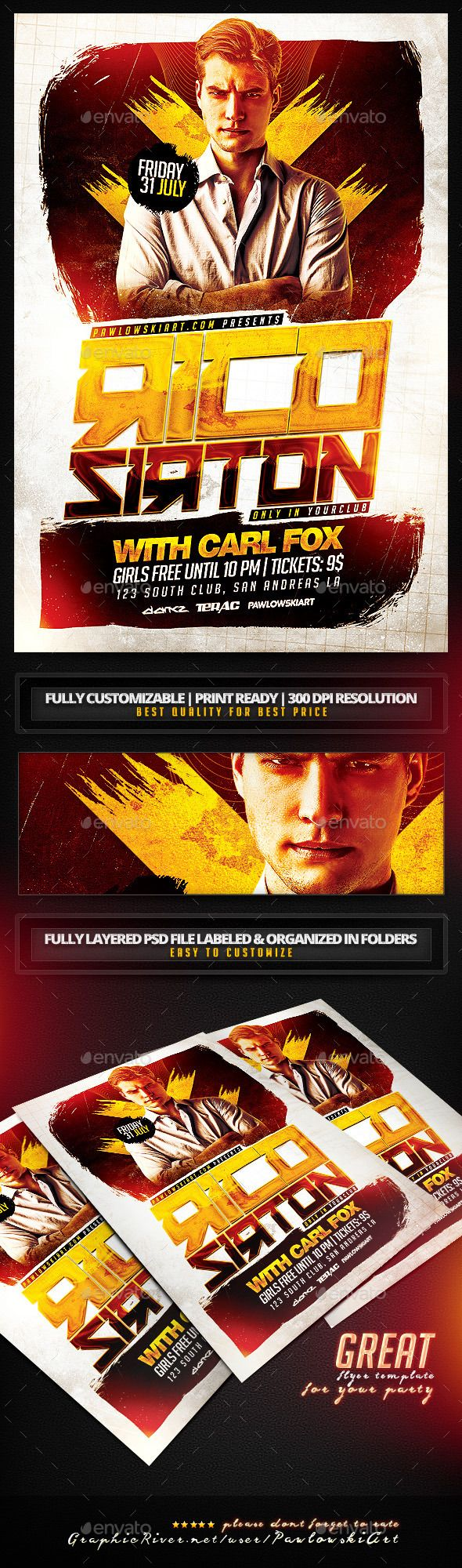 Special Guest DJ v4 PSD Flyer Template - Clubs & Parties Events