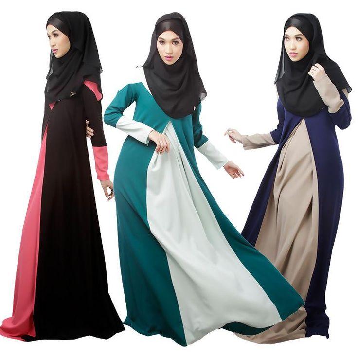 Plus Size Evening Dresses 2015 Arabic Evening Dresses Hunter/Black/Blue Jewel Sheath Mading Islamic Clothing With Hijab Muslim Dresses Dress Shop Online From Gonewithwind, $32.56| Dhgate.Com