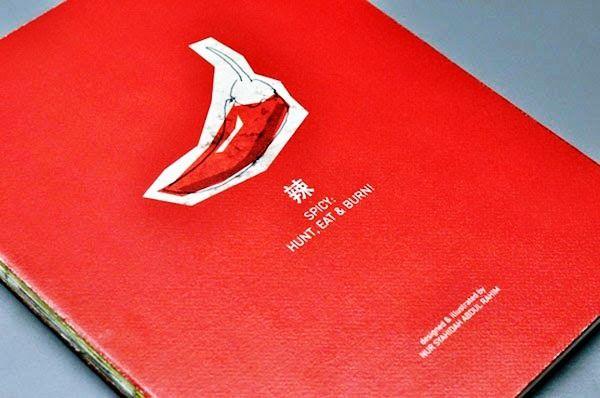 Desain Buku Resep Masakan - Hunt, Eat & Burn oleh Nur Syahidah Abdul Rahim