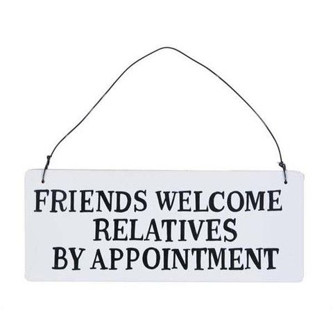 Plaque - Friends Welcome