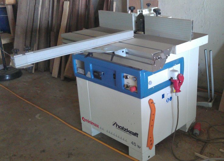 Minimax T45W spindle moulder with sliding table, tilting spindle, left / right run.