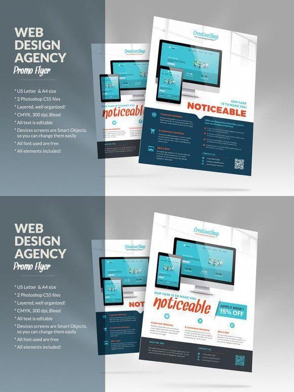 Web Design Agency Flyer Flyer Templates $700 #webdesignagency