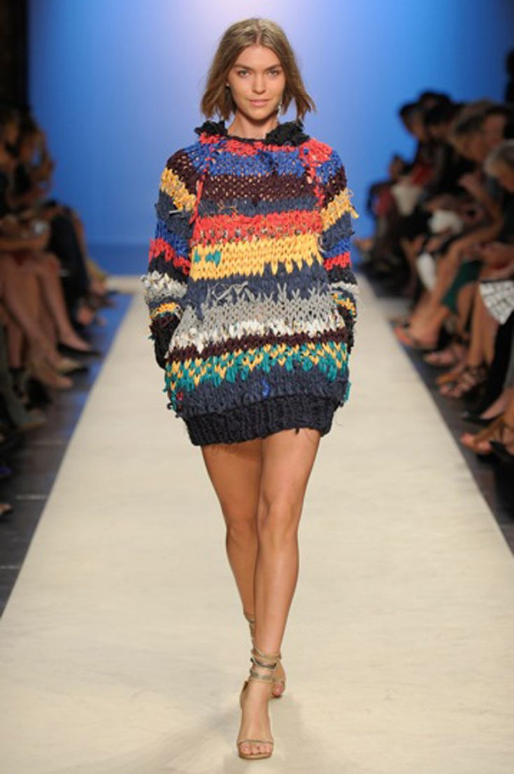 Cool and Sporty Collections from Isabel Marant for Spring 2012: Isabel Marant in colorful knitted sweater
