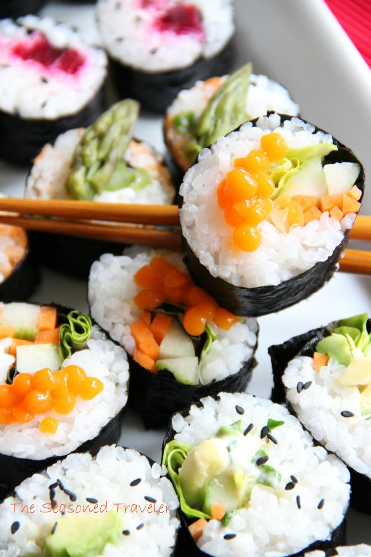 Vegetarian Sushi, Maki-Style. Delicious alternative sushi fillings that won't break the bank! Also check out: ZebraHealth.com/zebrahealth-blog